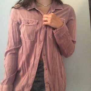 pink button up top
